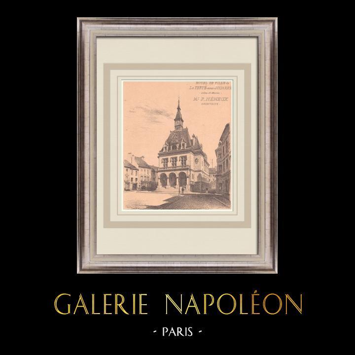 Antique Prints & Drawings | City Hall - La Ferté-sous-Jouarre - France (P. Héneux) | Print | 1900