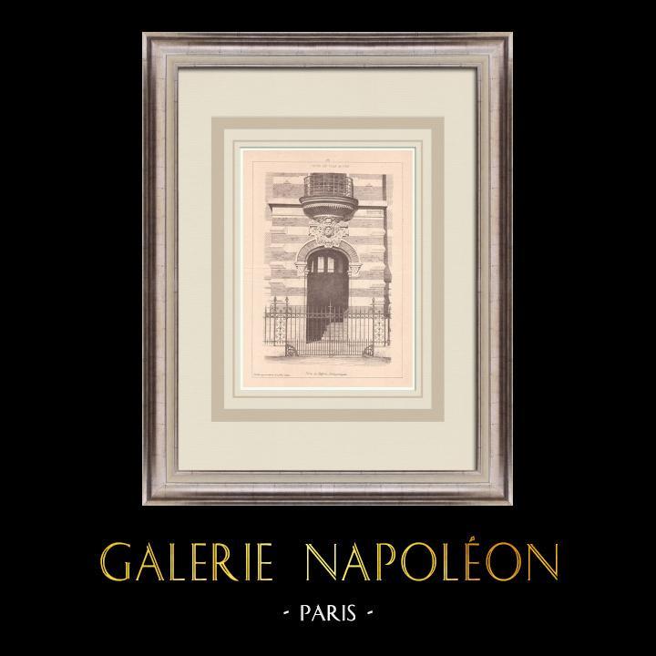 Gravures Anciennes & Dessins | Hotel de Ville - Porte du Beffroi - Loos - France (L. Cordonnier architecte) | Impression | 1900