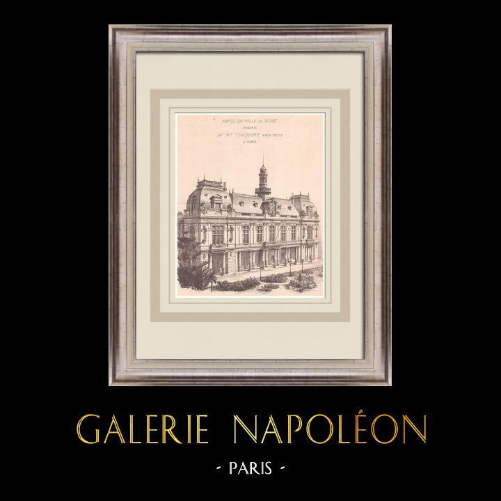 Antique Prints & Drawings | City Hall - Bône - Algeria (M. Toudoire) | Print | 1900
