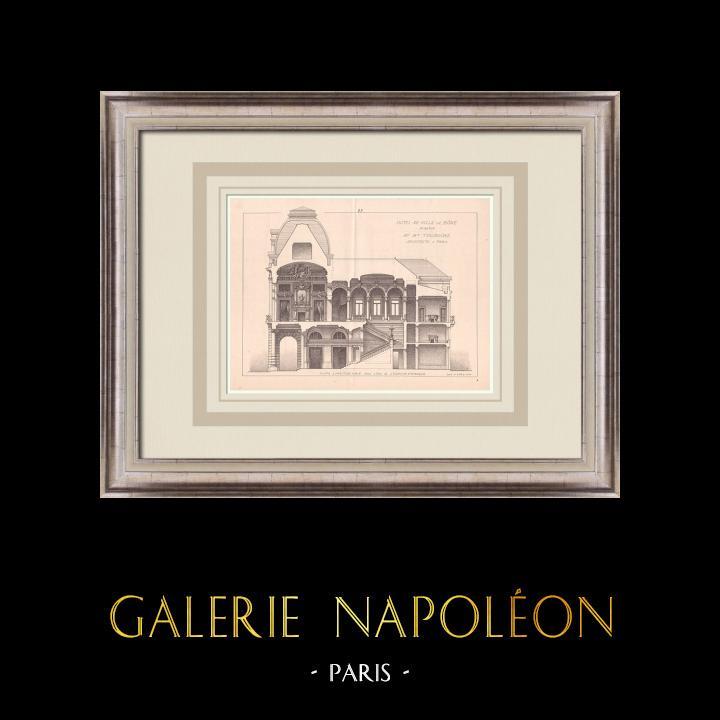 Antique Prints & Drawings   City Hall - Bône - Algeria (M. Toudoire)   Print   1900
