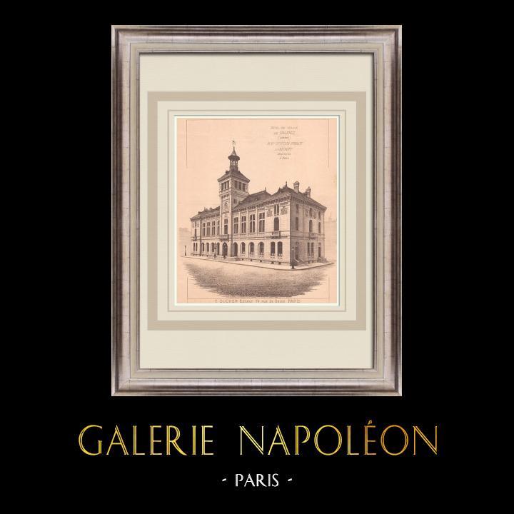 Gravures Anciennes & Dessins | Hotel de Ville de Valence - France (Bertsch-Proust & Bichoff architectes) | Impression | 1900