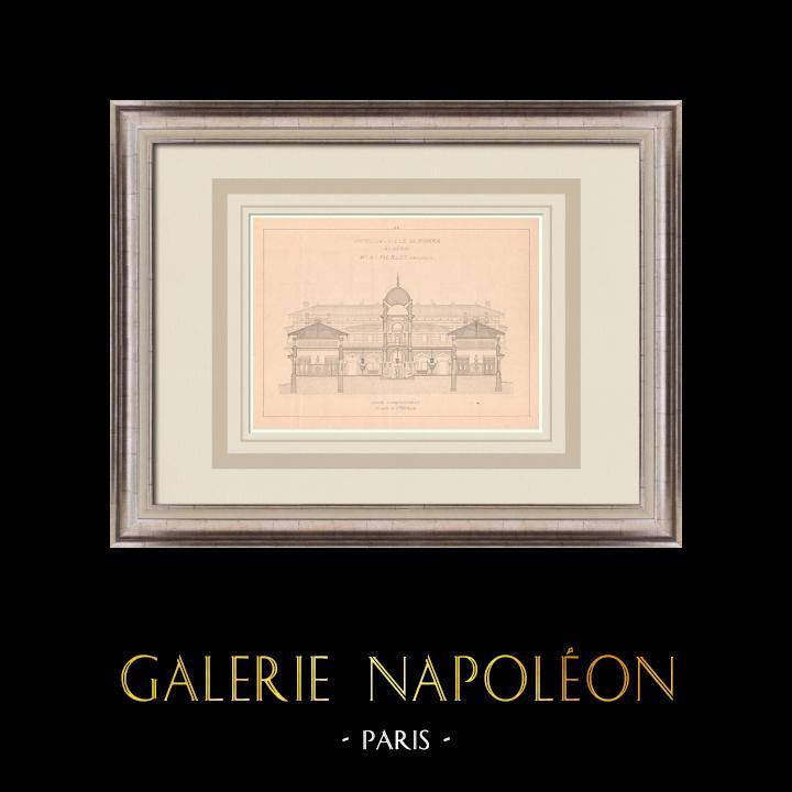 Gravures Anciennes & Dessins | Hotel de Ville de Biskra - Algérie (A. Pierlot architecte) | Impression | 1900