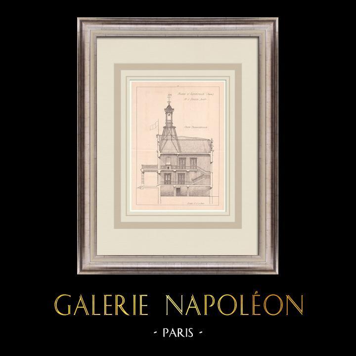 Antique Prints & Drawings | City Hall - Alfortville - Île-de-France (J. Preux) | Print | 1900