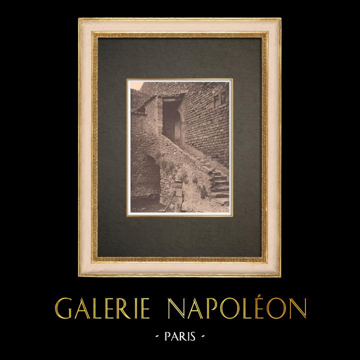 Antique Prints & Drawings | Stairs in the Bastide Saint-Pierre at Lauris - Luberon - Vaucluse (France) | Phototypie | 1928