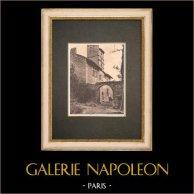 Ferme à Saint Pierre du Terme près de Avignon - Vue latérale - Vaucluse (France) | Phototypie originale. Anonyme. 1928