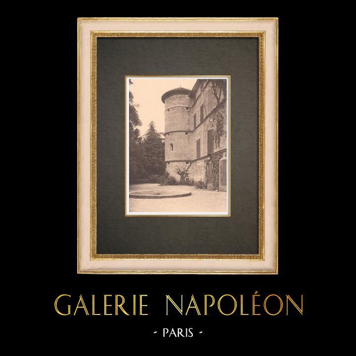 Antique Prints & Drawings | Tower of La Roque-d'Anthéron castle  - Provence (France) | Phototypie | 1928