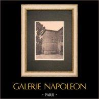 Castle Saint-Pons near Aix-en-Provence - Pavillon carré - Provence (France) | Original phototypie. Anonymous. 1928
