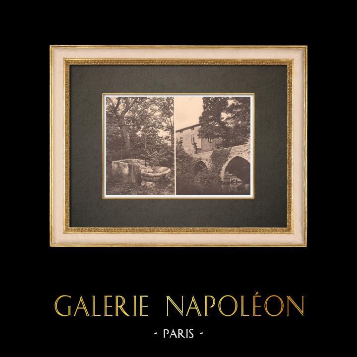 Antique Prints & Drawings | Castle Saint-Pons near Aix-en-Provence - Old well - Provence (France) | Phototypie | 1928