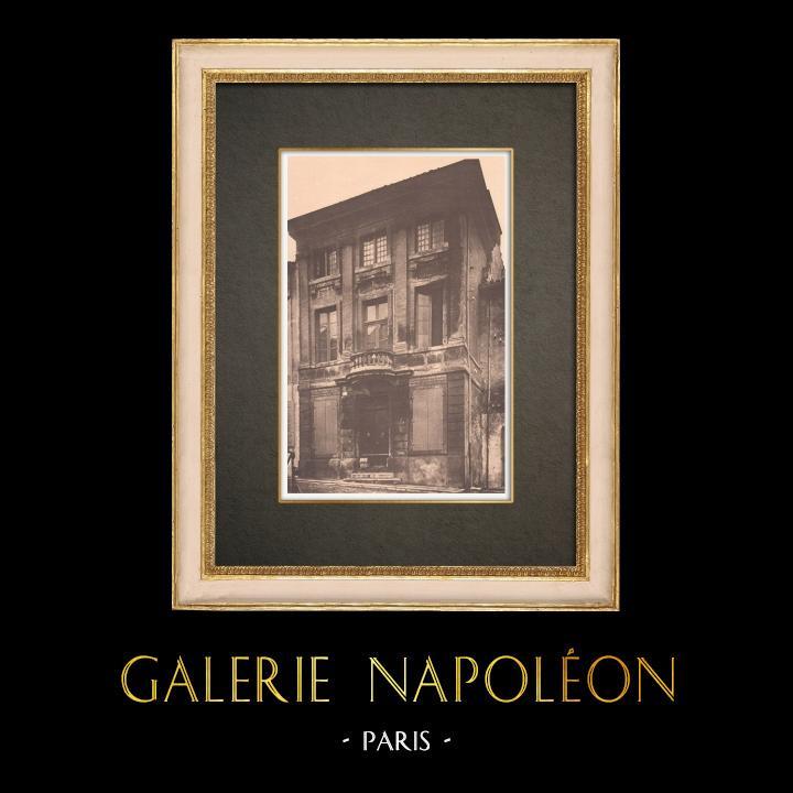 Grabados & Dibujos Antiguos | Casa Antigua en Arles - Provenza (Francia) | Fototipia | 1928