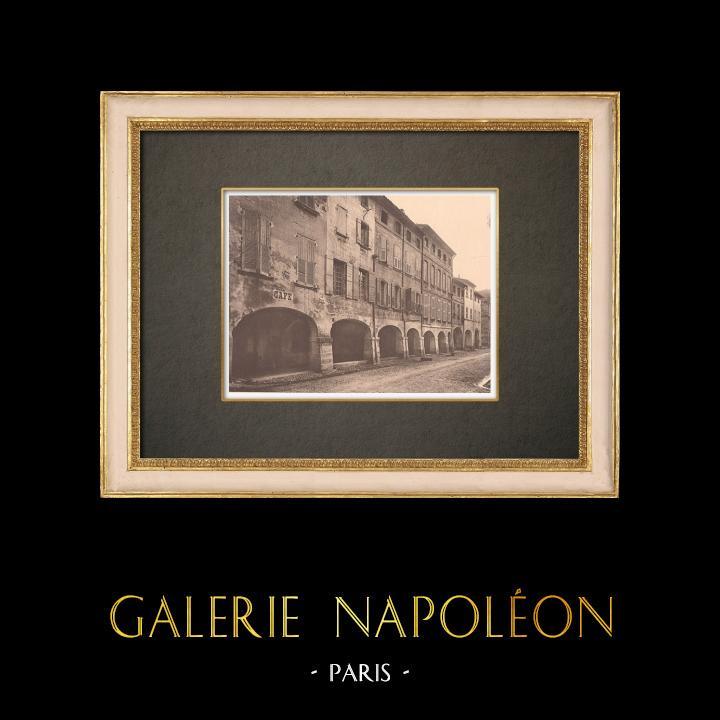 Antique Prints & Drawings | Houses in Villeneuve-lès-Avignon - Gard (France) | Phototypie | 1928