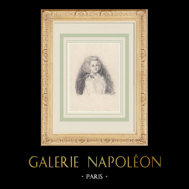 Gravures Anciennes & Dessins | Portrait de Marie-Antoinette (Ketty Muller) | Dessin | 1947