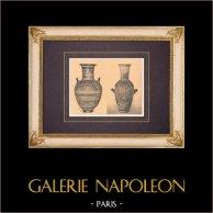 Griechische Vasen - Amphore (Santorin) - Hydria (Theben) - VIII. Jahrhundert