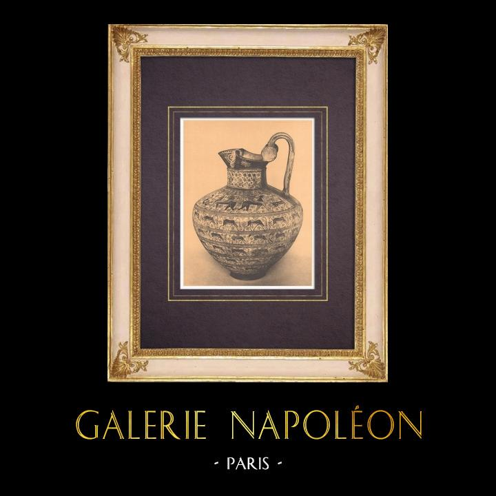 Antique Prints & Drawings | Greek vases - Oenochoe - VIIth Century (Rome) | Heliogravure | 1929
