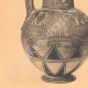 DETAILS 03   Greek vases - Oenochoe - Gamédes  - VIIth Century (Aegina - Tanagra)