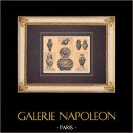 Jarrones griegos - Perfume - Aryballe - Pyxide - Siglo VII