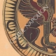 DETAILS 02 | Greek vases - Corinthian platter - Sphinx - VIIth Century