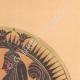 DETAILS 03 | Greek vases - Corinthian platter - Sphinx - VIIth Century