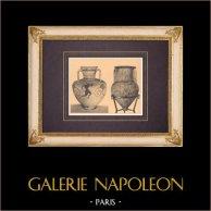 Vases grecs - Amphore samienne (Rhodes) - Amphore béotienne (Thèbes)
