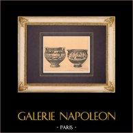 Vases grecs - Cratères corinthiens - VIème Siècle (Cervetri)