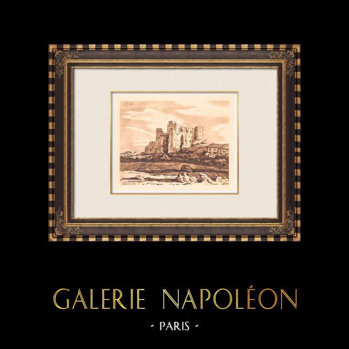 Antique Prints & Drawings | Château de Lourmarin - Renaissance - Vaucluse (France) | Copper engraving | 1943