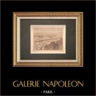 Nice - La Vallée du Paillon - Alpes-Marítimes (France)   Tirage photographique d'époque sur papier albuminé. Anonyme. Contrecollé sur carton. 1880
