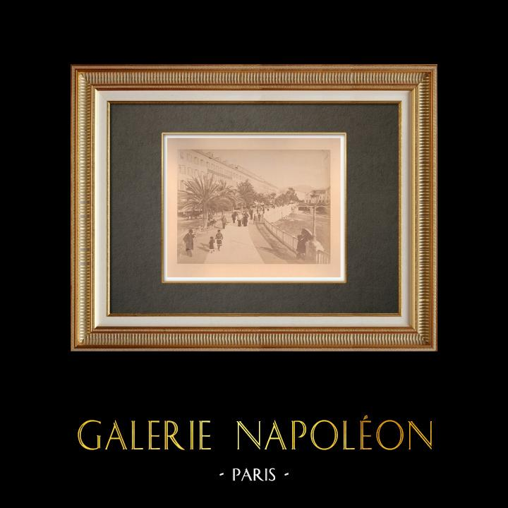 Antique Prints & Drawings | Nice - Quai Masséna - Paillon - Alpes-Marítimes (France) | Photography | 1880