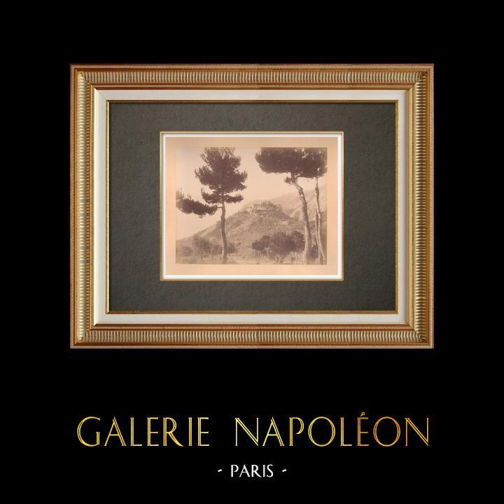 Antique Prints & Drawings | Eze - Route de la Grande Corniche - Nice - Côte d'Azur - Alpes-Marítimes (France) | Photography | 1880