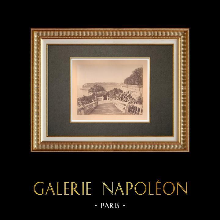 Gravures Anciennes & Dessins | Principauté de Monaco - Monte-Carlo  - Casino - Terrasse - Côte d'Azur | Photographie | 1880