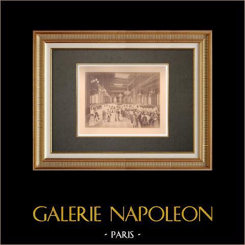 Principality of Monaco - Monte Carlo - Casino - Game room- Côte d'Azur | Original albumen photographic print. Anonymous. Mounted on a card. 1880