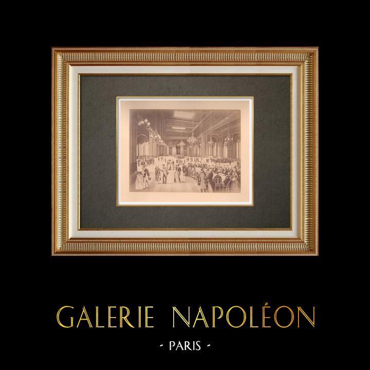 Grabados & Dibujos Antiguos   Principado de Mónaco - Monte Carlo - Casino - Sala de juego - Costa Azul   Fotografía   1880