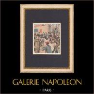 Élections législatives françaises de 1902 - Paris | Gravure sur bois imprimée en chromotypographie. Anonyme. Texte au verso. 1902