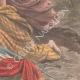 DETAILS 06 | Eruption of Mount Pelee - France helps Martinique - Allegory - 1902