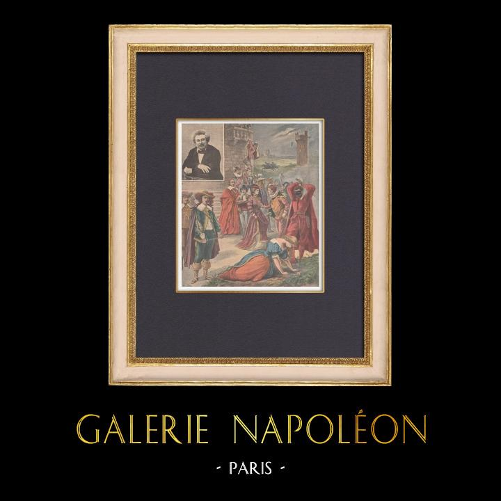 Gravures Anciennes & Dessins | Centenaire de Alexandre Dumas - 1902 | Gravure sur bois | 1902