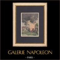 Explosion au camp militaire de Satory - Versailles - Ile de France - 1902