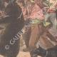 DÉTAILS 04 | Un ours attaque une charrette d'enfants à Valenciennes - Nord - France - 1902