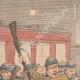 DETAILS 01   Tumult of drunken english soldiers - Birmingham Station - England - 1902