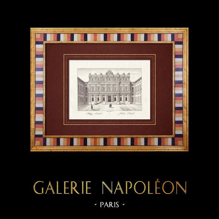 Gravures Anciennes & Dessins | Palais Ducal de Gênes - Ligurie (Italie) | Taille-douce | 1846