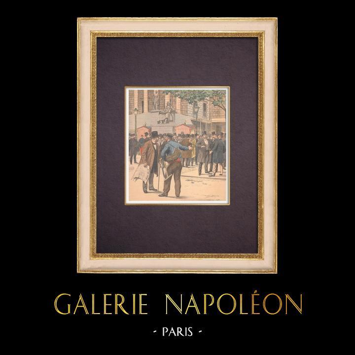 Gravures Anciennes & Dessins   Chambre des Députés - Rentrée Parlementaire - Paris - 1903   Gravure sur bois   1903