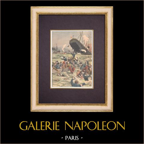 Scheepswrak van Liban - Redding van de Schipbreukelingen - Marseille - 1903 |