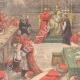 DÉTAILS 02   Conclave de 1903 - Election d'un nouveau Pape dans la Chapelle Sixtine - Vatican (Italie)