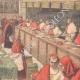 DÉTAILS 04   Conclave de 1903 - Election d'un nouveau Pape dans la Chapelle Sixtine - Vatican (Italie)
