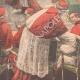 DÉTAILS 05   Conclave de 1903 - Election d'un nouveau Pape dans la Chapelle Sixtine - Vatican (Italie)