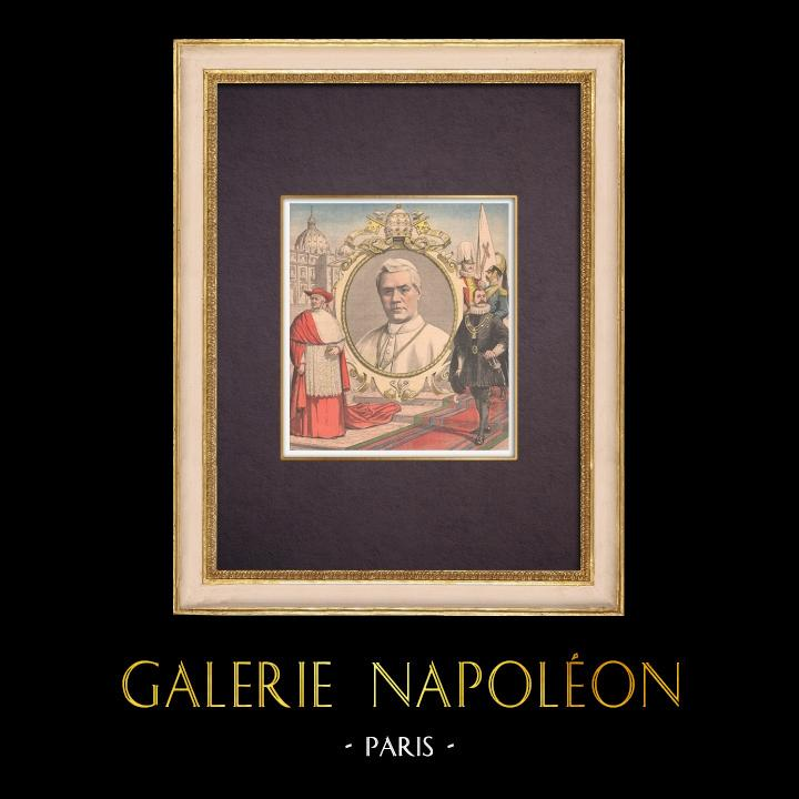 Antique Prints & Drawings | Cardinal Giuseppe Sarto - Pope Pius X - Saint Peter's Square - Rome - 1903 | Wood engraving | 1903