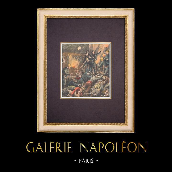 Antique Prints & Drawings | Paris metro accident - 1903 | Wood engraving | 1903