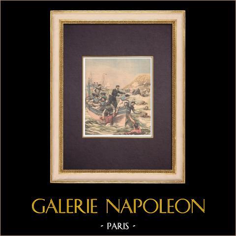 De Bemanning van Galilée Redt Zeelieden Verlaten Door Jacques Lebaudy - Afrika - 1903 |