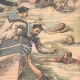 DÉTAILS 04   L'équipage du Galilée sauve les marins abandonnés par Jacques Lebaudy - Afrique - 1903