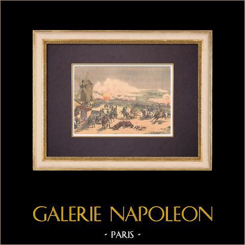 Schlacht von Valmy - Horace Vernet - 1826 - Französischer Maler - National Gallery | Original holzstich in chromotypographie nach Vernet. Text auf der rückseite. 1903