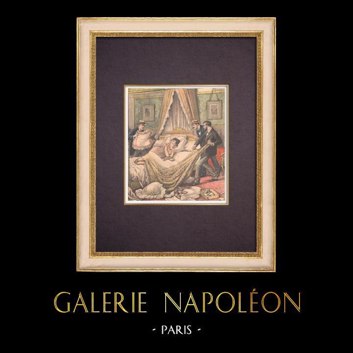 Antique Prints & Drawings | Assassination of Eugénie Fougère in Aix-les-Bains - 1903 | Wood engraving | 1903