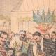 DETALLES 03   El Rey y la Reina de Italia llegan en Francia - Estación de Dijon - 1903