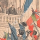 DÉTAILS 01 | Cortège en l'honneur de la France devant le Palais Farnèse - Rome - 1903